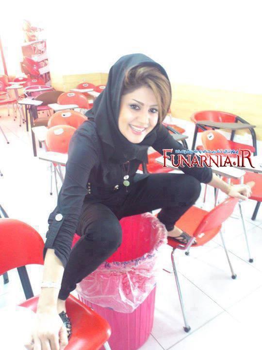 حرکت زشت و تحریک کننده دختر ایرانی در دانشگاه+عکس